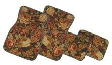 Printed rose carpet car mats