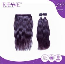 Custom 2 Year Warranty Silky 10Inch Chocolate Remy Human Straight Hair Weaving