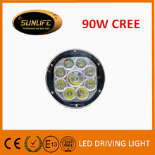 "Hot SALE 90W 7"" LED Driving light for ATV, UTV, SUV, BOATS high power led driving lights accessories cars LED driving lamp"