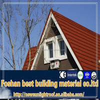 Maintenance Free Roofing Materials For House Owner,Metal Sheet,Metra Stone Coated Chip Steel Roof Tile
