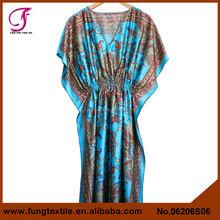 06206s06 lange stil floral frauen seide marokkanischen kaftan kleider