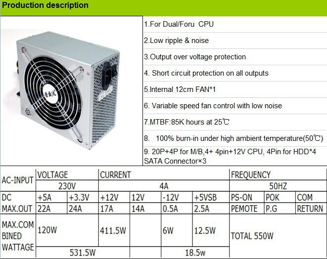 Pc Power Supply/ Atx 12v 2.31 Passive Pfc / 300w Power Supplies ...