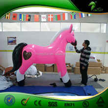 Excellent Quality Promotion Advertising pvc inflatable animals,Inflatable horse with heart pringting for decoration