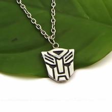 Wholesale Transformation Logo Autobot Decepticon necklace pendant Movie Comic Figure Toy Accessories Gift