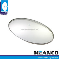 Oval clear cookware parts Tempered Roaster Glass Lid