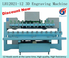 12 heads 3D CNC router for wood furniture carving
