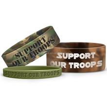 3/4 inch bracelet Swirl 19mm wide silicone wrist bands