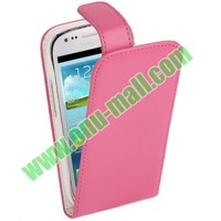 Up and down style Vertical flip cover case for samsung galaxy s3 mini i8190 with factory price and best quality