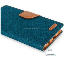 mercury goospery canvas diary wallet leather case, tpu cover case for Xiaomi redmi hongmi 2