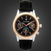 China Watch Supplier Waterproof Man Sport Watch Vogue Men High Quality Leather Wrist Watch