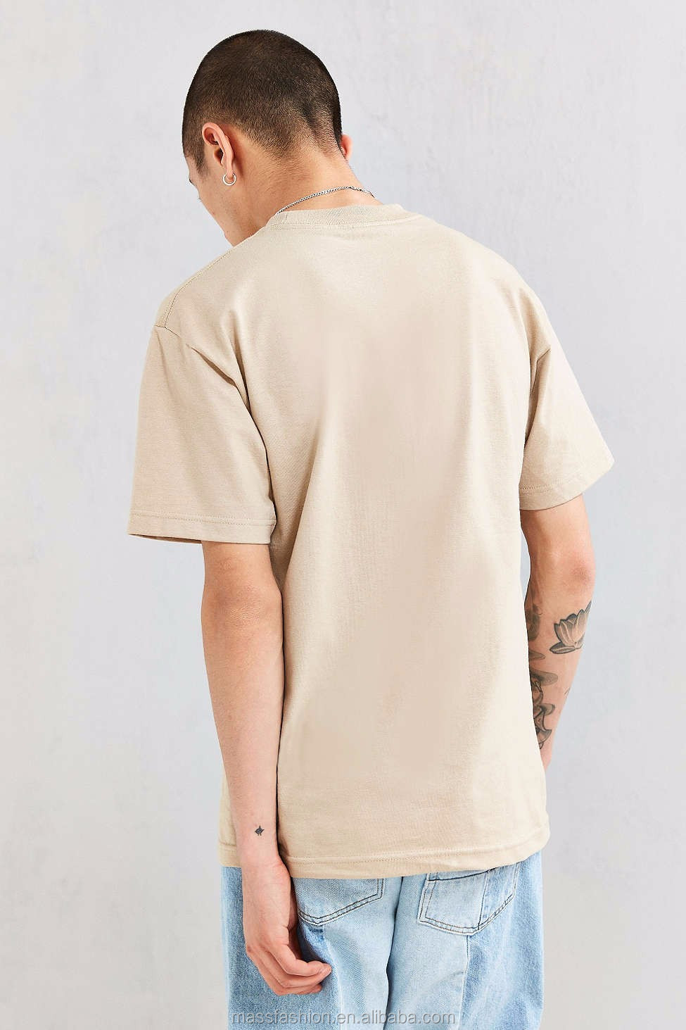 Wholesale Mens Blank Plain Tee Shirt Longline Extended Man T Tendencies Tshirt Super Rock Putih S 15 16 17
