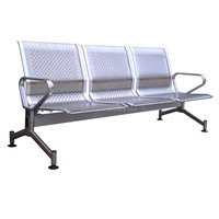 (SP-SC280) Wholesale Stainless steel waiting three seater metal airport chair