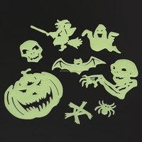 Kids Bedroom Decor 8PCS Glow Halloween Wall Dark Light Stickers Luminous Fluorescent Children Favor Decals