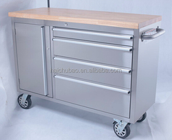 ( HOT )48 inch stainless steel wooden top indoor tool chest box