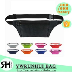 fashion designer waist bag anti-theft money belt bag sports running belt bag
