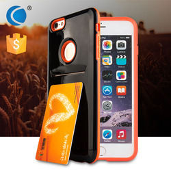 mobile phone accessories factory in china tpu cellphone case with business card slot for iphone accessories