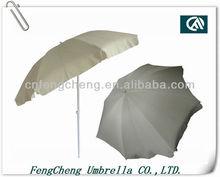 Solid color clear white market portable patio sun umbrella