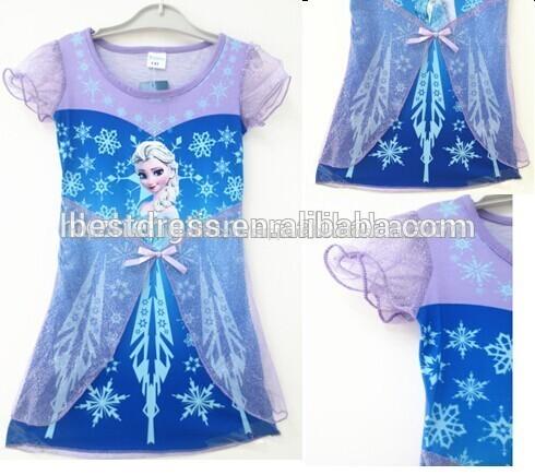 Robe de princesse en stock frozen fantaisie. chic, elsa filles robe