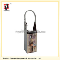 PU Leather Wine Tote Bag