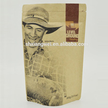 Natural Kraft Foil Stand Up Zip Pouch for Coffee Tea and Food