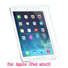 Top quality 9H anti-shock Tablet screen guard for Apple iPad mini2 empered glass screen protector