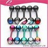 HOT SALE 316L Stainless Steel tongue ring body piercing jewelry