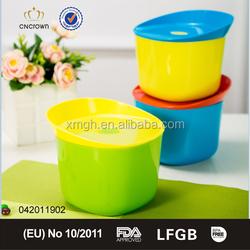 1200ml air hole design airtight plastic food storage box