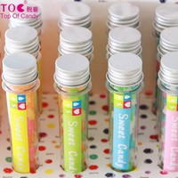 long tube colorful mini chewing fruit hard candy