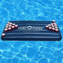 EN71 6P PVC blue inflatable beer pong folding table
