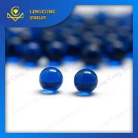 Wuzhou factory 114# blue spinel round no hole beads