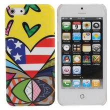 Magical Picture Love America Pattern Hard Shell Protective Cover Case For iPhone 4G 4S For Mobiles