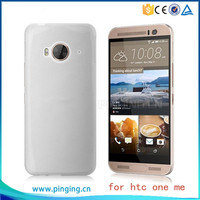 0.5mm ultra thin tpu transparent phone case for htc one me clear case