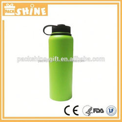 1200ml double wall insulated stainless steel water bottle with Straw lid