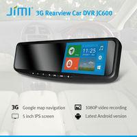 Jimi New Released extra wide rear view mirror Advanced 3G Gps Navigation Garmin Jc600