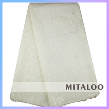Mitaloo MSL0331 Nice Design African Eyelet Dry Lace Fabric Dry Lace Material With Stones
