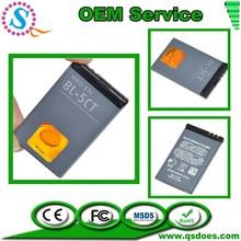 Protable 3.7V 1050mAh Rechargeable Li-ion Battery for Nokia BL-5CT 6730C C3-01 C5-00 C6-01 5220XM 6303C C3-01 C3-01m C5-00