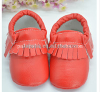PU leather fringe cute fashion baby shoes kids cheap moccasins
