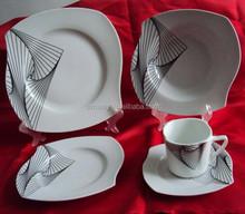 unique shape ceramic dinner set for star restaurant