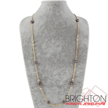 Fashion Long Chain Pearl Necklace N3-5524