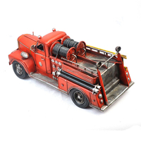 Tin Model Car, fire fighting truck model, antique imitation iron crafts