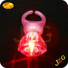 Wholesale giveaway logo printing colorful party supplies led finger ring flash led light