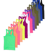 Loose custom crop tank top cheap women stringer tank top