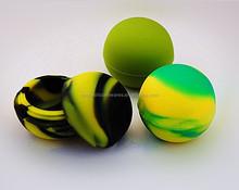FDA approved food grade non stick small mini slick oil ball silicone wax container silicone jars dab wax vaporizer oil container