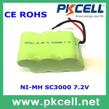 rechargeable battery 7.2V S ub C Ni-MH Battery