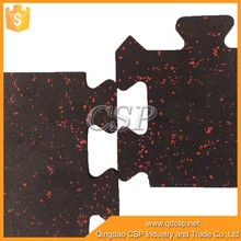 China factory of easy clean interlocking groove horse stable rubber flooring