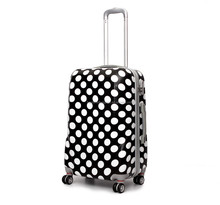 """207# abs pc plastic trolley luggage for travelling 20"""" 24"""" 28inch suit case set"""