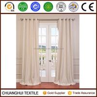Textured Dupioni Faux Silk 96-inch Blackout Grommet Curtain Panel Mult Colors