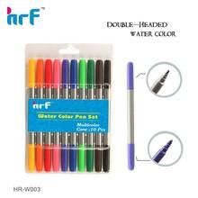 10 PK Double tip water color pen(twin tip felt tip pens) HR-W003