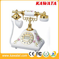 Booth Brass Old Style Landline Rotary Dial antique telephone