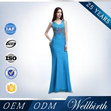 Sexy Vestidos De Fiesta V Neck Deep Navy Blue Long Formal Evening Dress Mermaid Slim Hip Sexy Prom Dress 2014 Party Dress